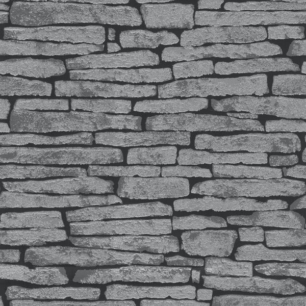 Fine Decor ceramica glitter slate black / grey wallpaper