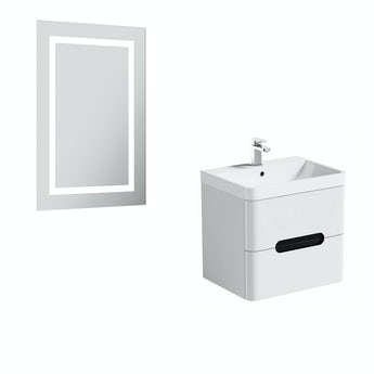 Mode Ellis select essen wall hung vanity unit 600mm and mirror offer