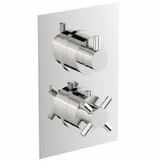Image of Alexa Square Twin Valve with Diverter Special Offer