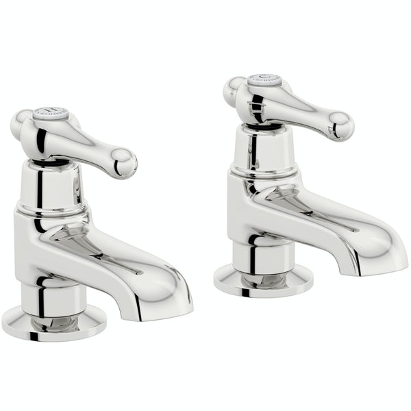 The Bath Co. Camberley lever basin and bath pillar tap pack